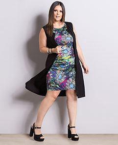Conjunto Colete e Vestido Plus Size