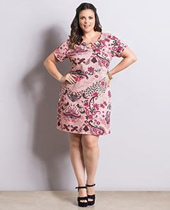 Vestido Cashmere Rosa Plus Size