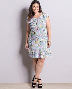Vestido Floral Candy Color Plus Size