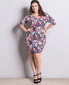 Vestido Mix Floral Plus Size