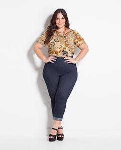 Blusa Cashmere e Calça Cropped Plus Size