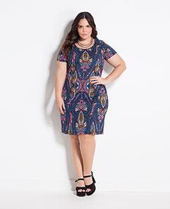 Vestido Cashmere Amarração nas Costas Plus Size