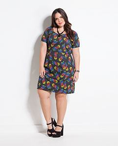 Vestido Estampa Abacaxi Plus Size