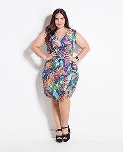 Vestido Mix de Estampas Plus Size