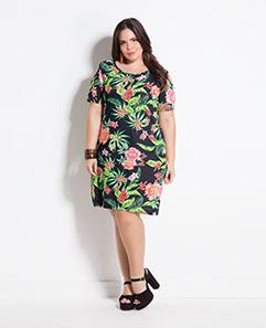 Vestido Mix Floral Marguerite Plus Size