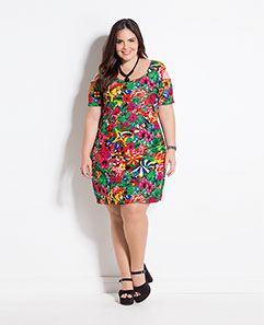 Vestido Tropical Plus Size