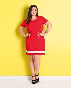 Vestido Reto Vermelho Plus Size