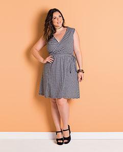 Vestido Xadrez Vichy Plus Size