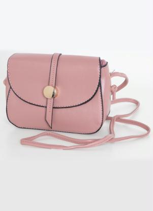 f9f2510718 produto Bolsa Transversal Pequena Rosê com Alça Fina