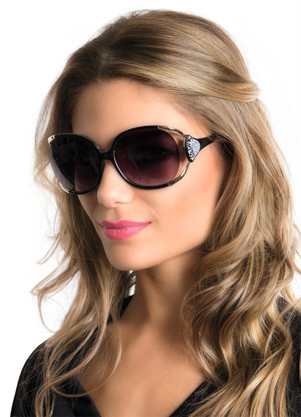 5a034ddc996b6 Óculos de Sol Feminino Marrom - Queima de Estoque