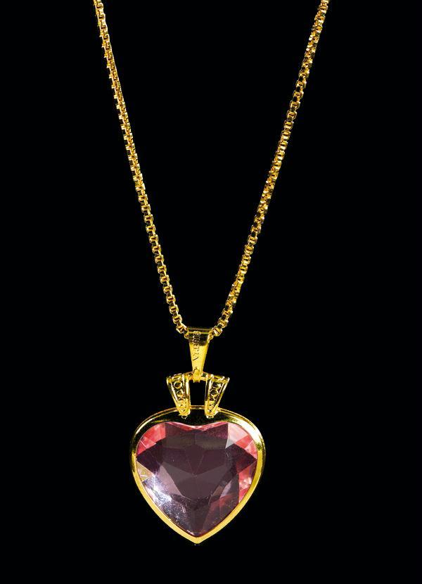 Moda Pop - Corrente Dourado de Coração - Moda Pop fa83767b40