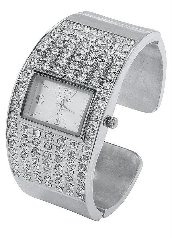 e64c46424a3 Relógio Bracelete com Strass - Queima de Estoque
