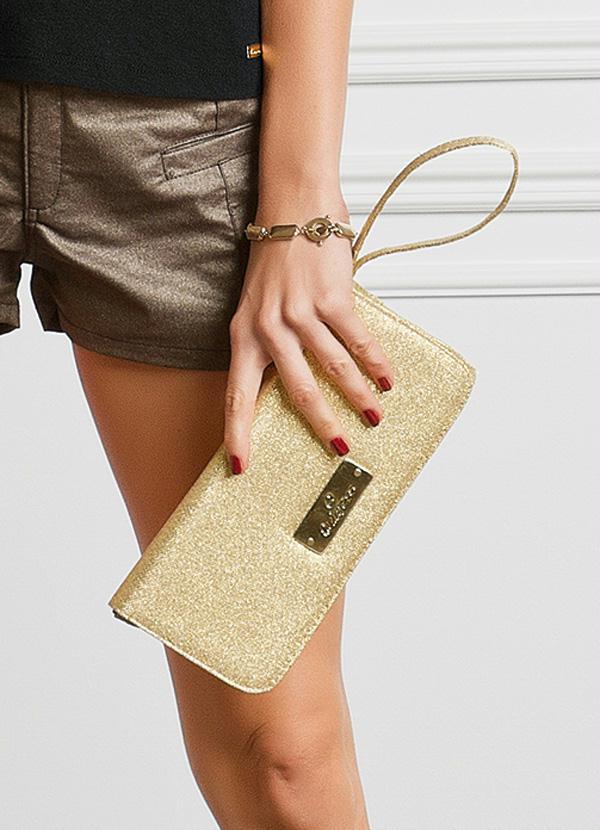 Bolsa De Mão Para Festa Dourada : Bolsa de m?o dourada posthaus