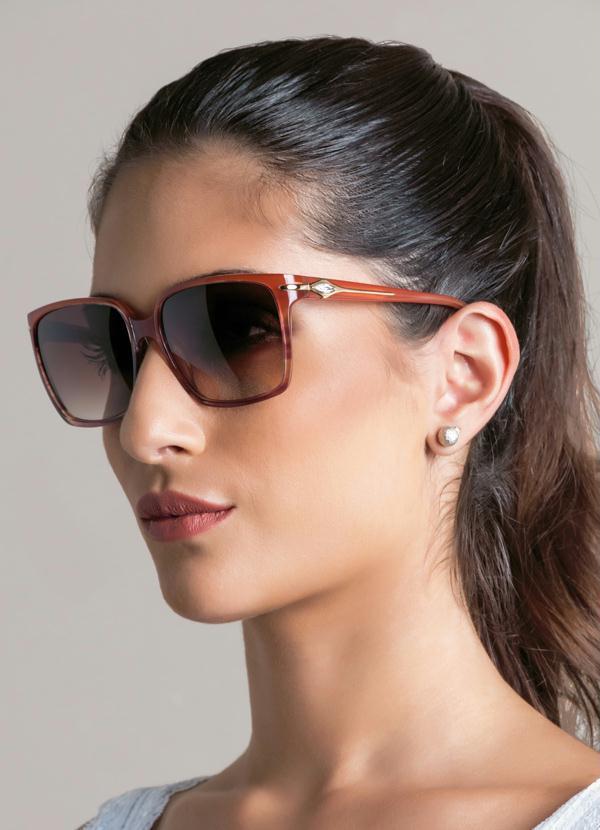 cb69ef0cd166a Óculos de Sol Ana Hickmann Ah9107-T02 Marrom - Multimarcas