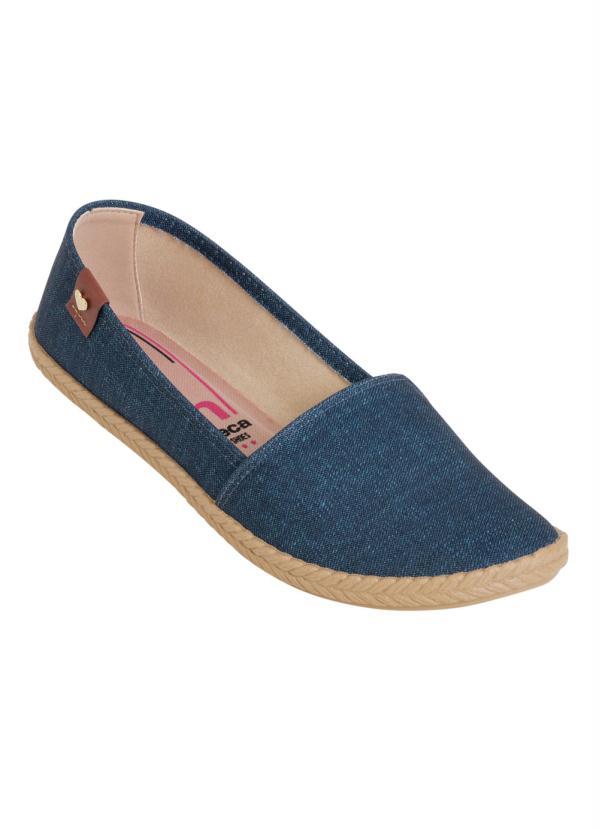 0346123ecc Moleca - Sapatilha Moleca Jeans com Elástico - Multimarcas