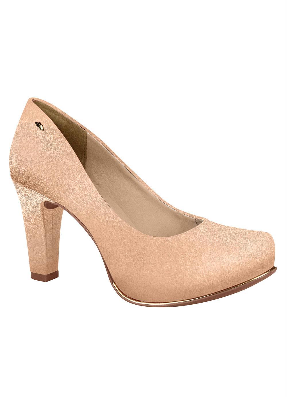 8d142ab010 Sapato Dakota Nude com Salto Encapado - Multimarcas