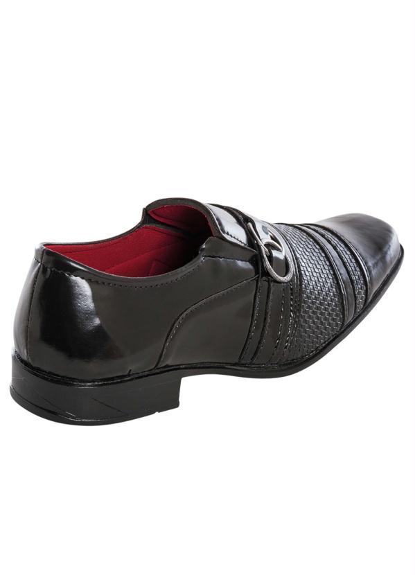 9af0520489 Perfecta - Sapato Social Preto Envernizado - Perfecta