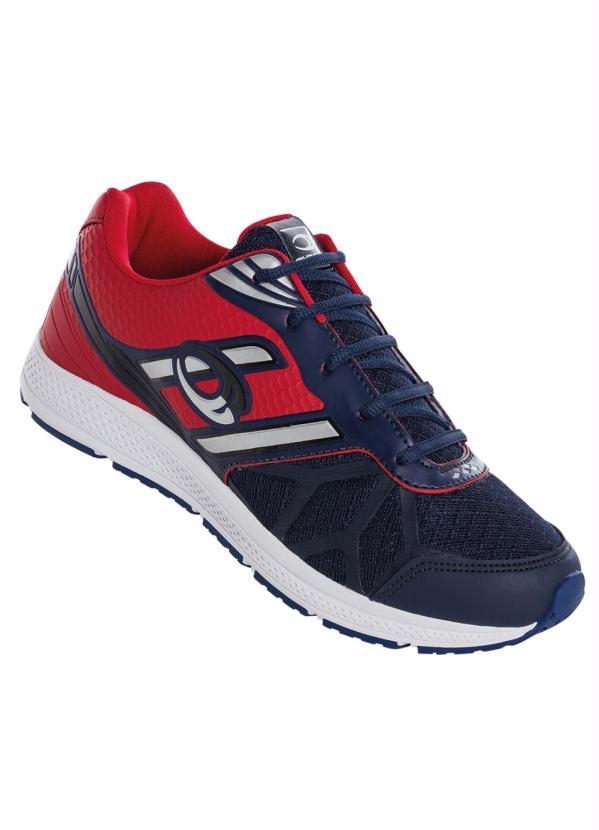 bcae679f249 Perfecta - Tênis Marinho e Vermelho - Perfecta