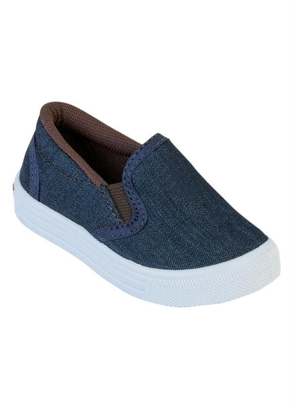 2ee89ec41a4 Perfecta - Tênis Infantil Jeans sem Cadarço - Perfecta