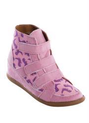 Sneaker Infantil Rosa Estampa de Dinossauro