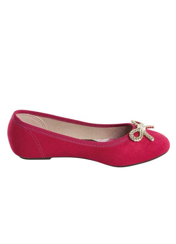 5161d44b7d Sapatilha Bebê com Laço Dourado Pink Molekinha - Perfecta