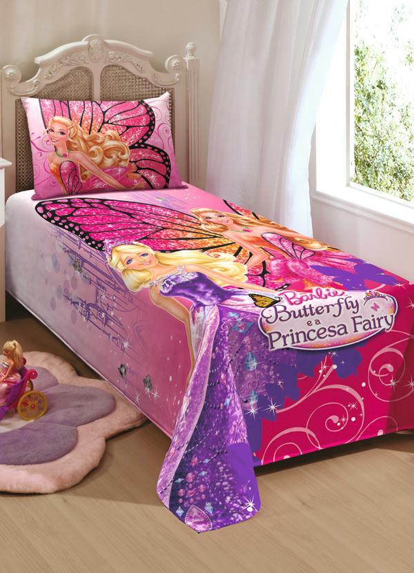Jogo de cama da barbie butterfly lar lazer for Cama e mesa