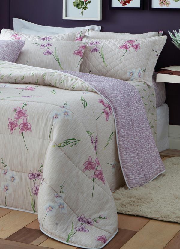 Jogo de cama casal manuela portal lar lazer for Cama e mesa