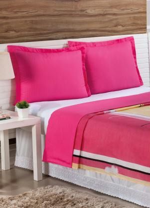 4a0d820939 Lar e Lazer - Porta Travesseiro Basic Rosa