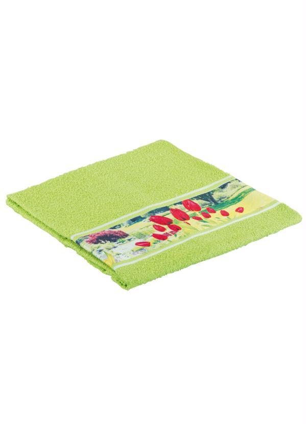 Toalha banho floral verde lar lazer for Cama e mesa