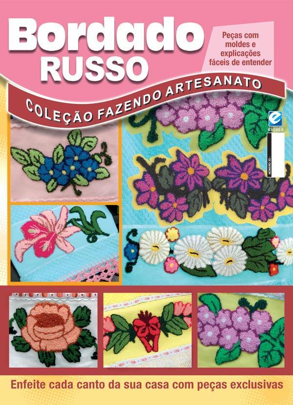 Aparador Para Sala Pequena ~ Revista Coleç u00e3o Fazendo Artesanato Bordado Russo Posthaus