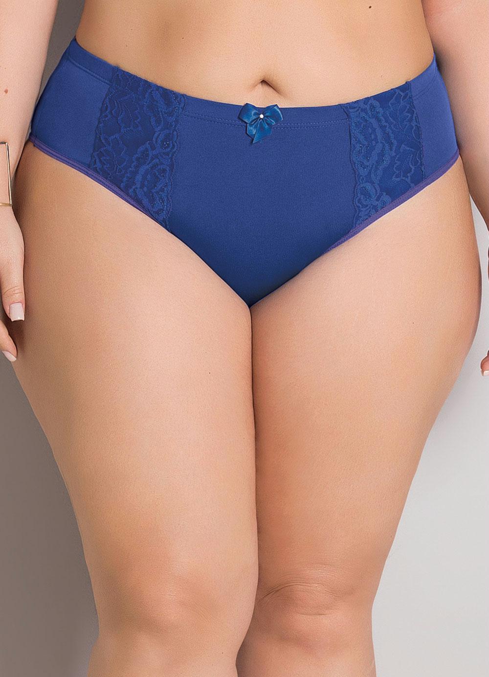 Calcinha Biquíni Plus Size Azul Christian Gray - Christian Gray b74b6f40556