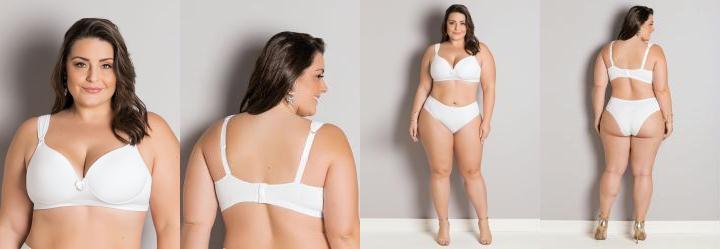 4e632fd48 0.9719358086585999 Sutiã com Bojo Plus Size Branco Christian Gray