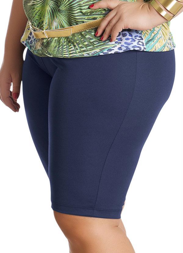 20b738398 Bermuda Feminina Plus Size Azul - Marguerite