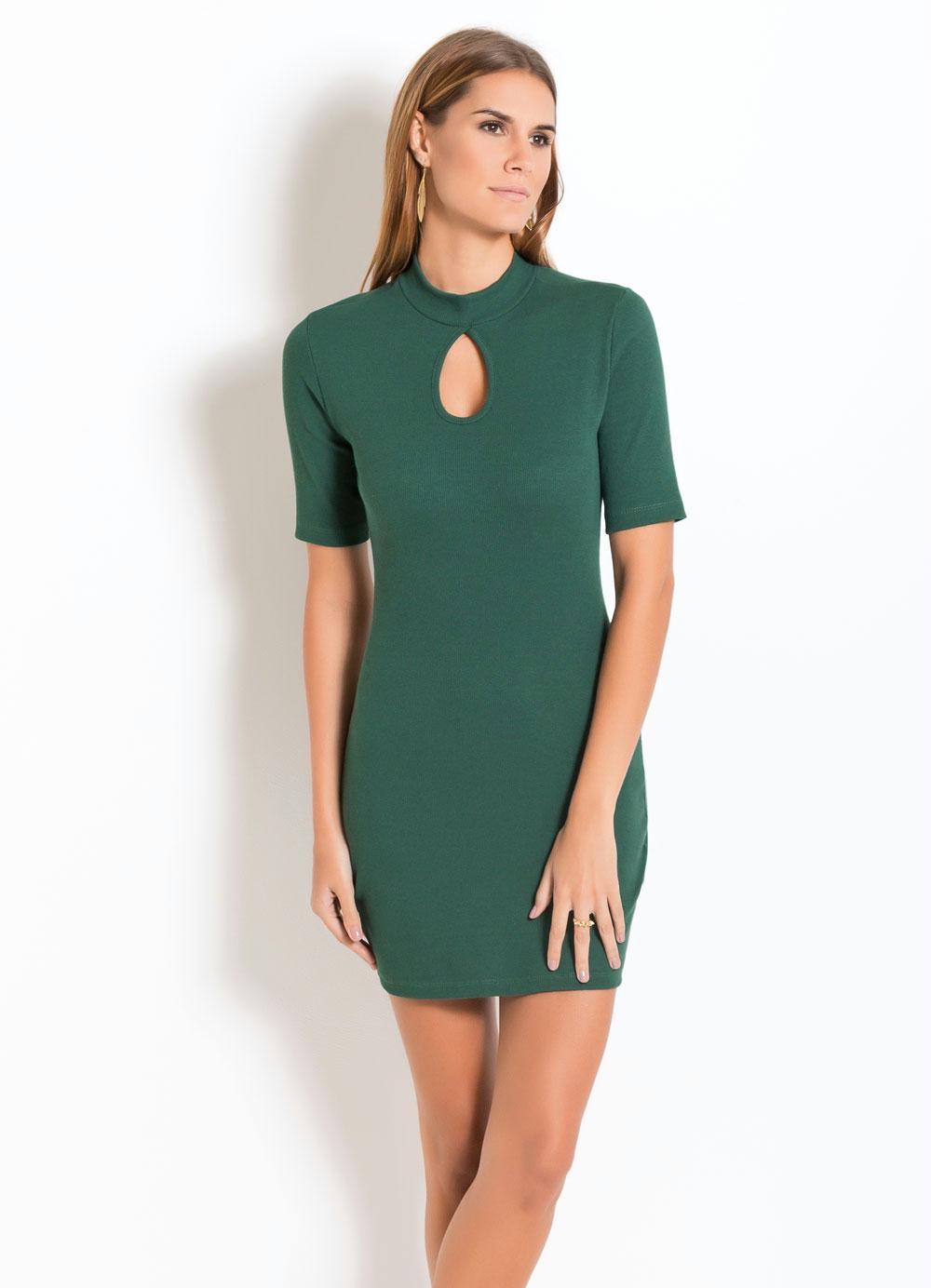 Vestido longo verde lodo