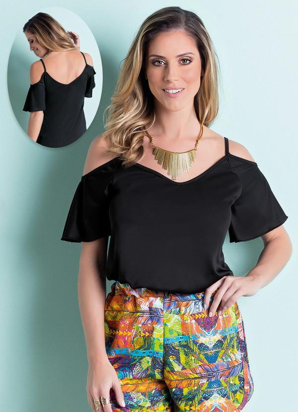 e21d2c659d Moda pop - Blusa Ciganinha Preta - Moda Pop