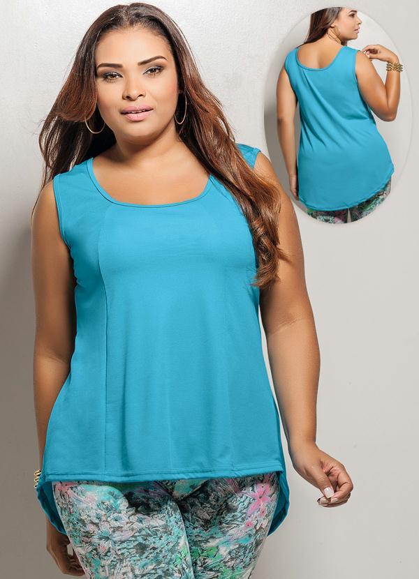 Regata Mullet Plus Size Azul - Marguerite 0de924892d5