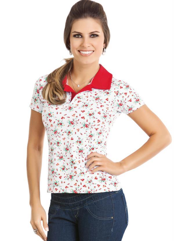 Camisa Estampada Gola Polo - Queima de Estoque 9bed2b6247e54