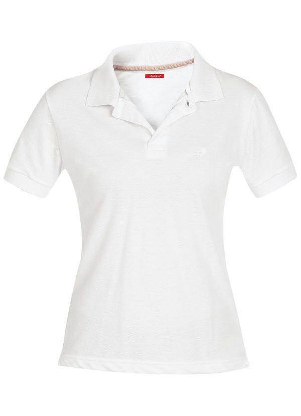 Camisa Polo Feminina Branca - Quintess a0f26004dd9