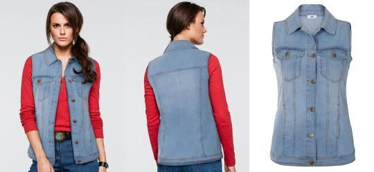 0.6071995496749878 Colete Jeans Azul Claro 7ed186dbf8755