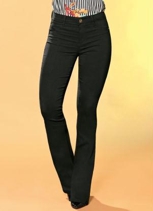 1ee6528a4 produto Sawary Jeans - Calça Flare Sawary com Bolsos Preta