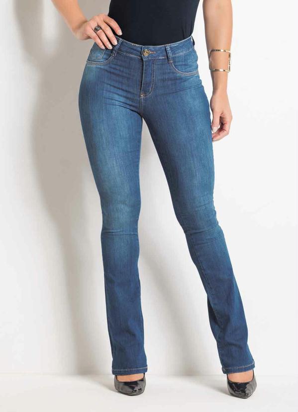 8d9e1b212 Sawary jeans - Calça Sawary Boot Cut Jeans com Zíper e Botão - Sawary Jeans