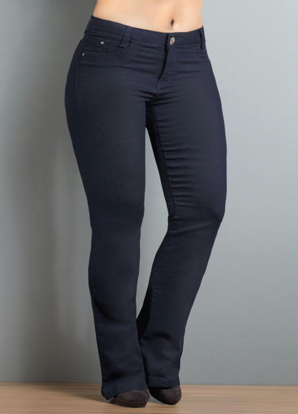 f327315010 Janine - Calça Flare Plus Size Jeans Escuro - Multimarcas