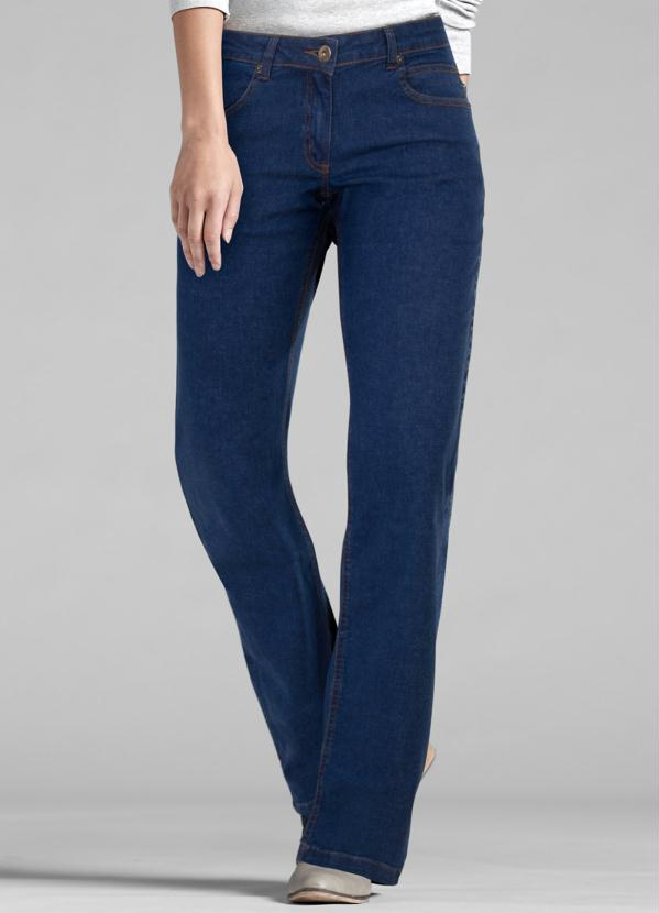 25661970a Bonprix - Calça Jeans Boot Cut Azul Escuro - bonprix