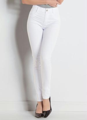 464639a4f Calça Hot Pant Branca Sawary com Cintura Alta