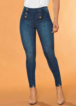 1a8cafc2e Calça Hot Pants com Botões Sawary Jeans