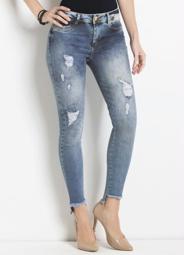 8df85cdf2 Sawary jeans - Calça Jeans Sawary Cigarrete Azul Levanta Bumbum - Sawary  Jeans