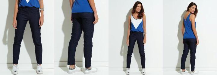 60261d2a1 0.0 Calça Jeans Quintess Justa com Cós