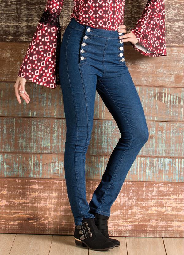 3bfa3e786 Quintess Outlet - Calça Jeans Skinny Cintura Alta - Quintess Outlet
