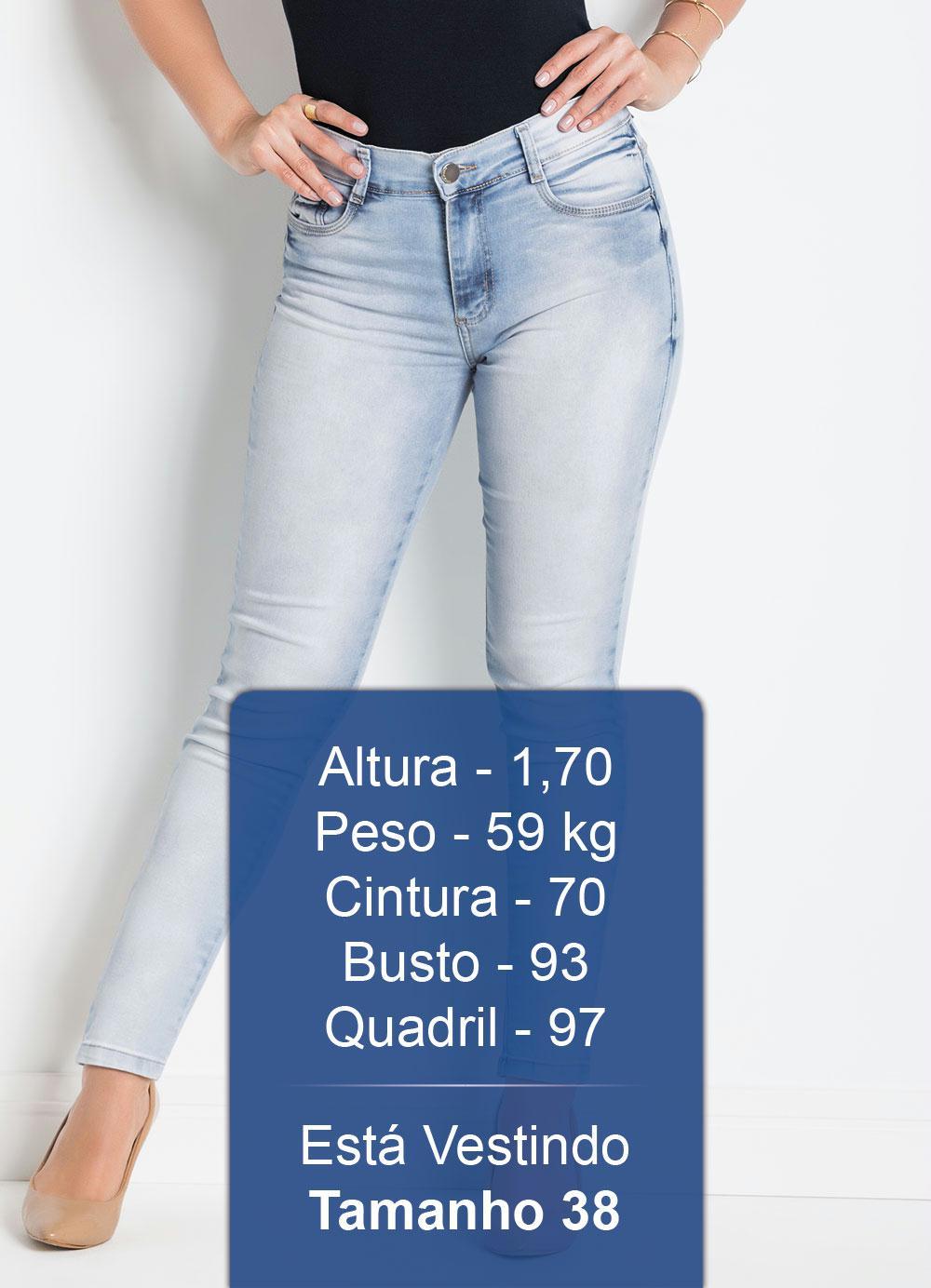 Calça Jeans Claro Sawary Modelo Cropped - Sawary Jeans