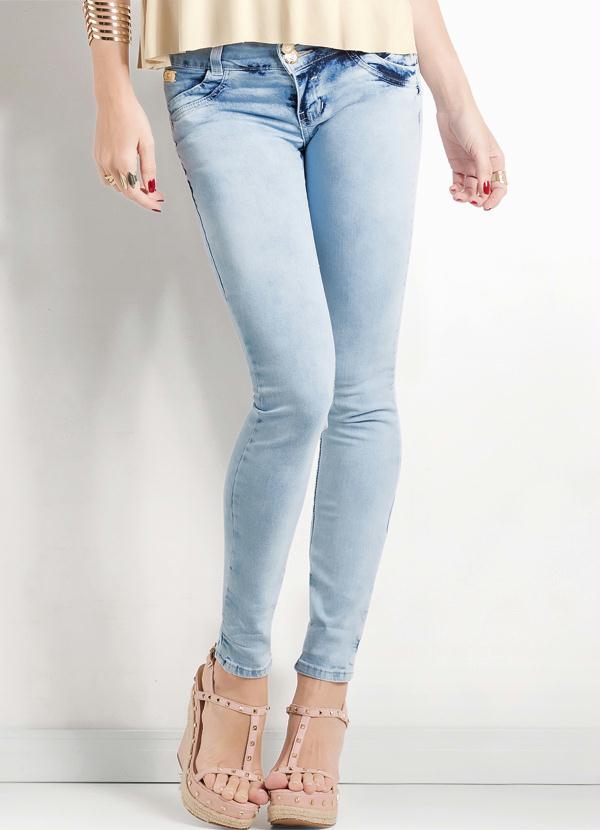 1e1be2ccdab57 Multimarcas - Calça Skinny Jeans Claro Ana Hickmann - Multimarcas
